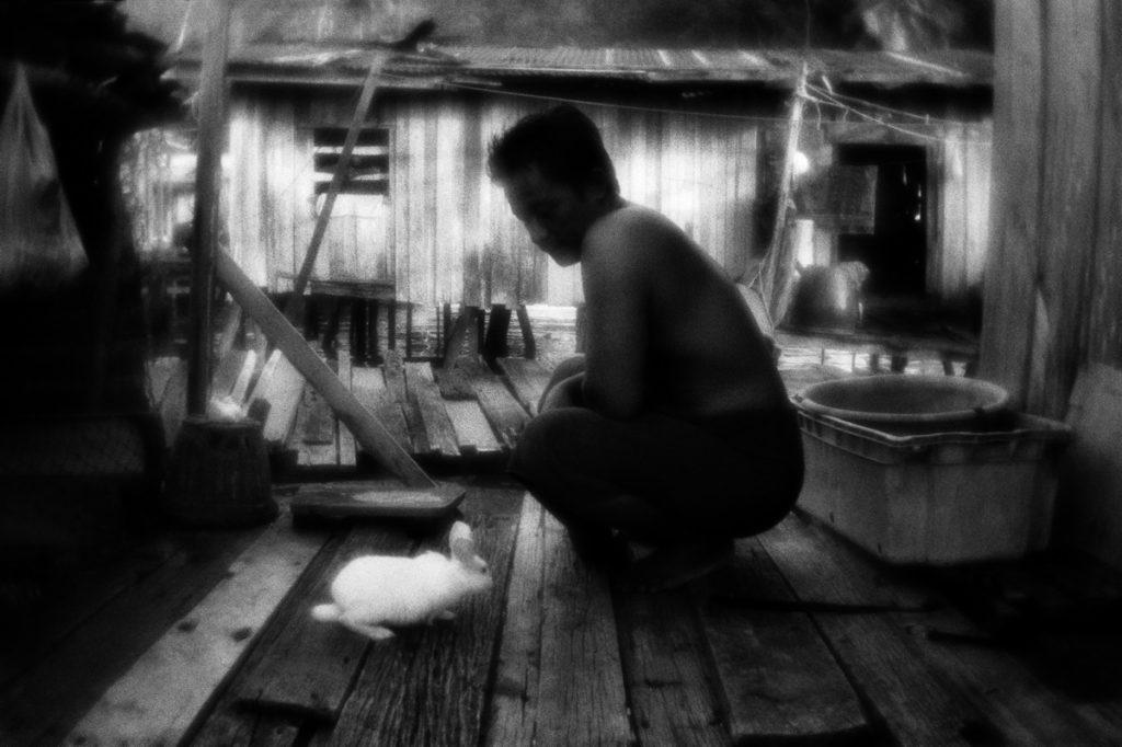 The settlement of Sea Gypsies on the Gaya island near Kota Kinab