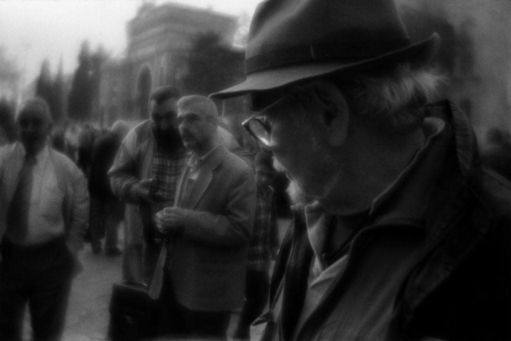 Sunday flea market near Beyezid Mosque, Istanbul, Turkey. Novemb