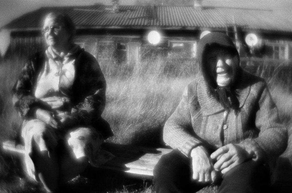 Local residents. Chupa settlement, Republic of Karelia. Sept2016