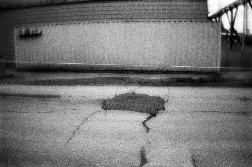 The road patched with the bricks. Krasnokamsk, Perm region, 27.0
