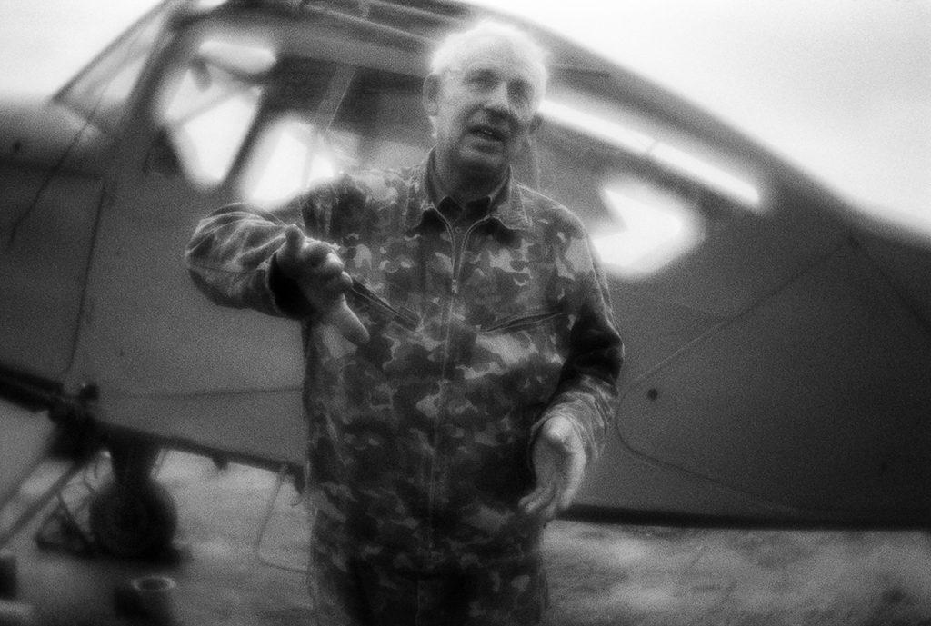 "Valery Sukhanov, the head of the ""Club of Amateur aviation techn"